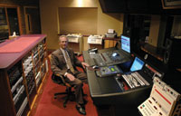 Roger Kuntz at his sound console