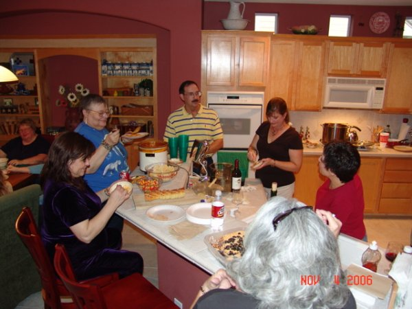 Gathering in the kitchen