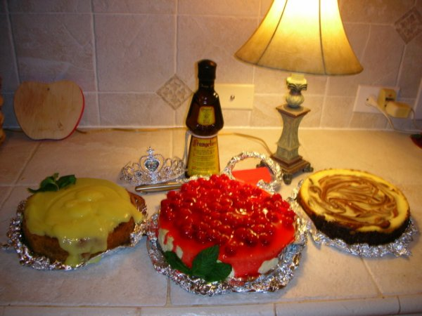 The cheesecakes prior to consuming